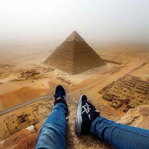 pyramids above